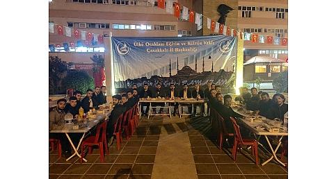 Çanakkale Ülkü Ocaklarından iftar yemeği