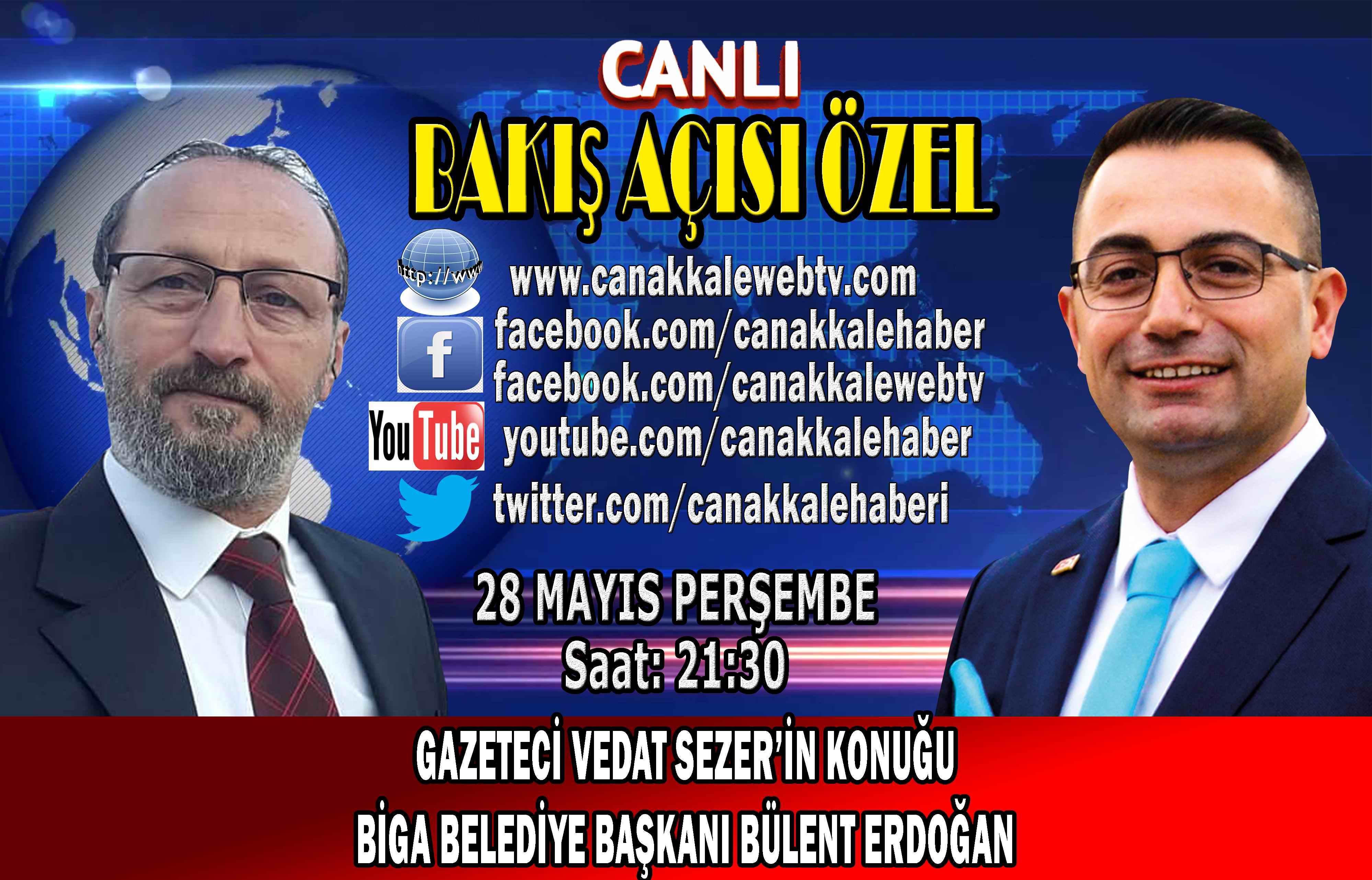 Gazeteci Vedat Sezer'in konuğu Biga Belediye Başkanı Bülent Erdoğan